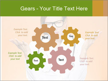 The doctor on an orange background PowerPoint Template - Slide 47