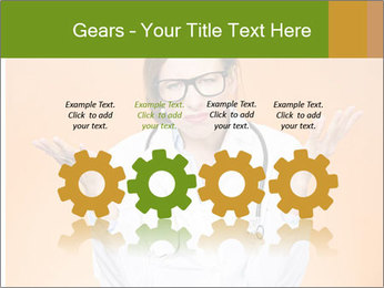 The doctor on an orange background PowerPoint Template - Slide 48