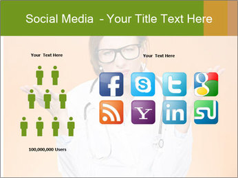 The doctor on an orange background PowerPoint Template - Slide 5