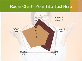 The doctor on an orange background PowerPoint Template - Slide 51