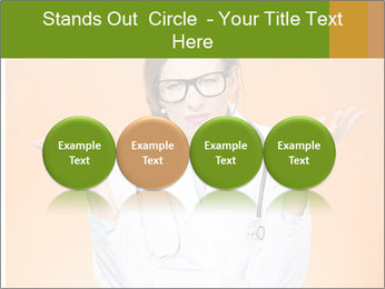 The doctor on an orange background PowerPoint Template - Slide 76