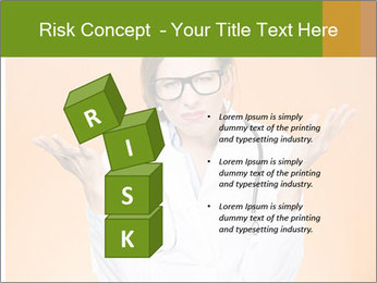 The doctor on an orange background PowerPoint Template - Slide 81