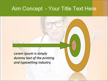 The doctor on an orange background PowerPoint Template - Slide 83