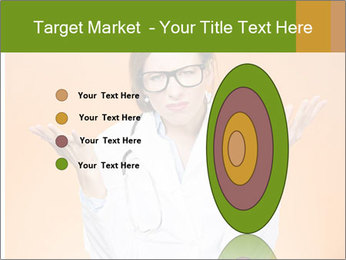 The doctor on an orange background PowerPoint Template - Slide 84