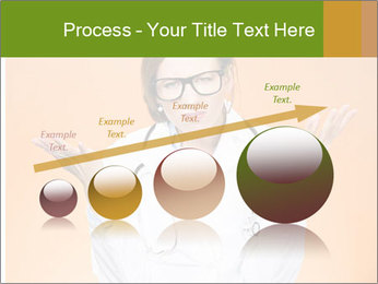 The doctor on an orange background PowerPoint Template - Slide 87
