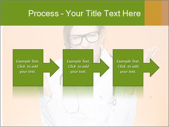 The doctor on an orange background PowerPoint Template - Slide 88