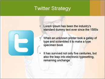 The doctor on an orange background PowerPoint Template - Slide 9
