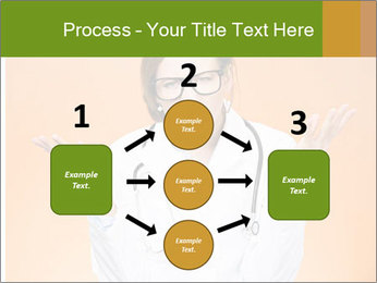 The doctor on an orange background PowerPoint Template - Slide 92