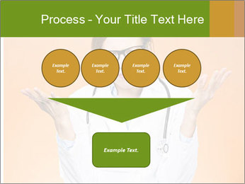The doctor on an orange background PowerPoint Template - Slide 93