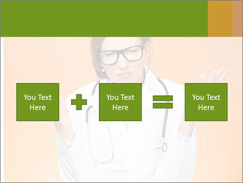 The doctor on an orange background PowerPoint Template - Slide 95