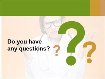 The doctor on an orange background PowerPoint Template - Slide 96