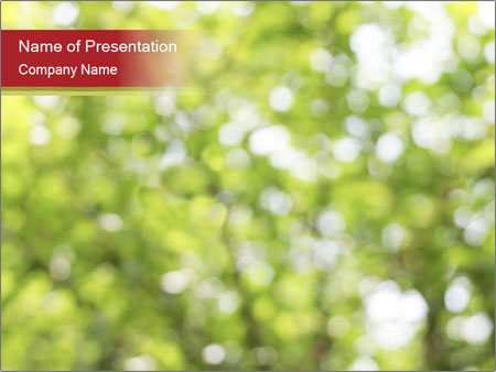 Natural Bokeh PowerPoint Templates