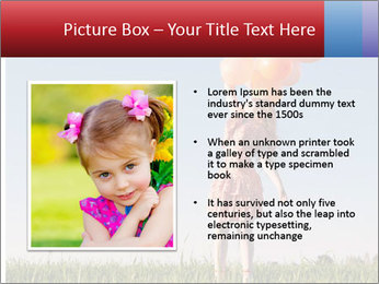 Happy girl PowerPoint Template - Slide 13