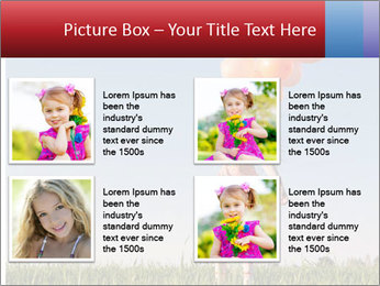 Happy girl PowerPoint Template - Slide 14