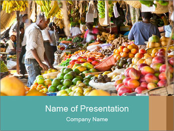 Vegetable market PowerPoint Templates - Slide 1