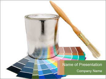 Paint PowerPoint Template - Slide 1