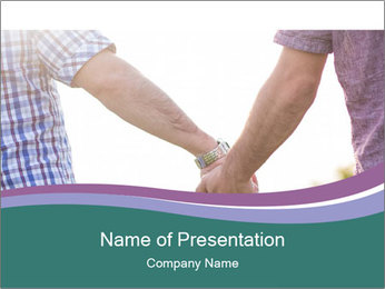 Gay couple PowerPoint Templates - Slide 1