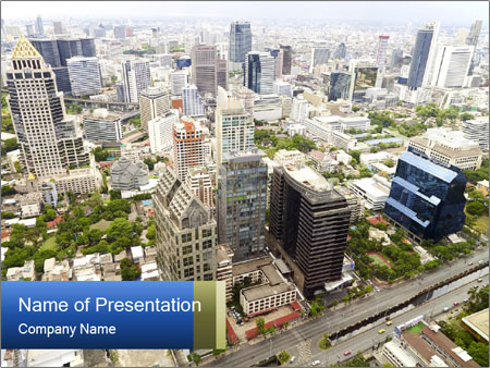 Economic center of Thailand PowerPoint Template