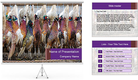 Pheasants PowerPoint Template