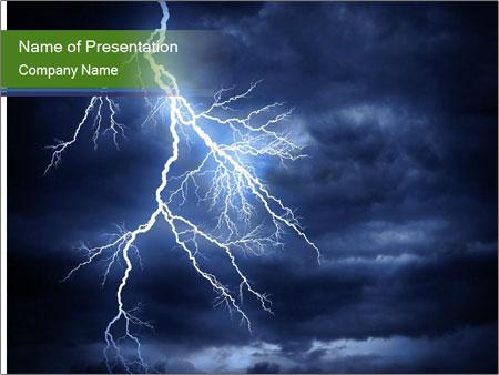 Lightning strike PowerPoint Template