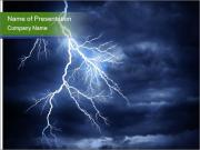 Lightning strike PowerPoint Templates