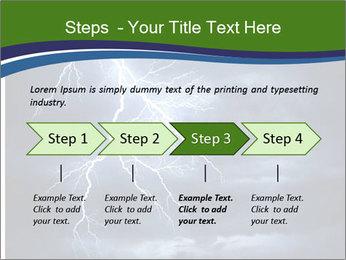 Lightning strike PowerPoint Template - Slide 4