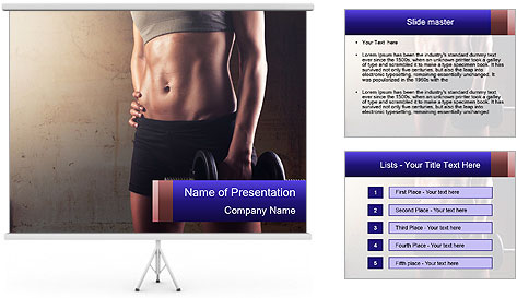 Athletic woman PowerPoint Template