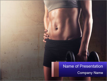 Athletic woman PowerPoint Template - Slide 1