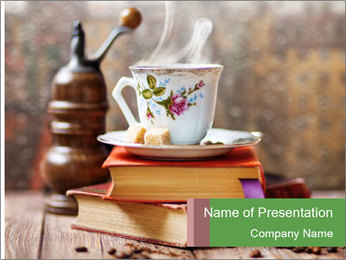 Coffee cup PowerPoint Template - Slide 1