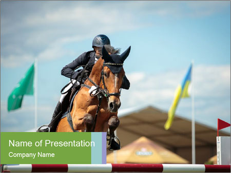 Equestrian Competition PowerPoint Template