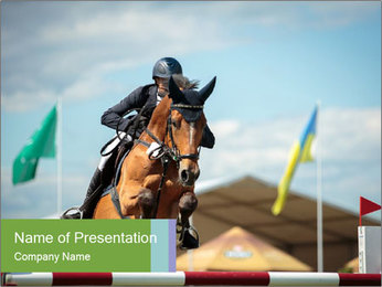Equestrian Competition PowerPoint Template - Slide 1