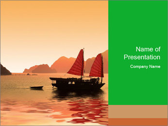 Halong Bay PowerPoint Template - Slide 1