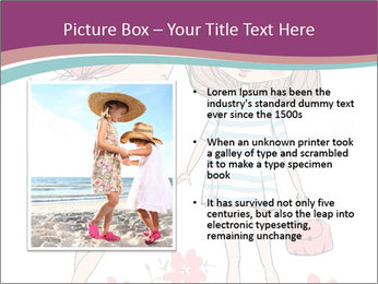 Cute girls PowerPoint Templates - Slide 13