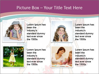Cute girls PowerPoint Templates - Slide 14