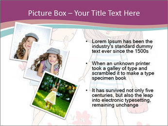 Cute girls PowerPoint Templates - Slide 17