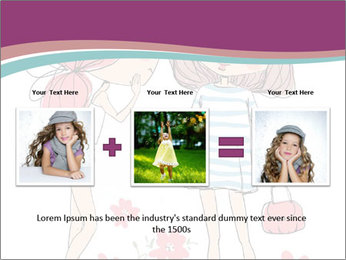 Cute girls PowerPoint Templates - Slide 22