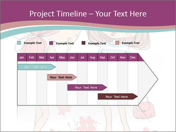 Cute girls PowerPoint Templates - Slide 25