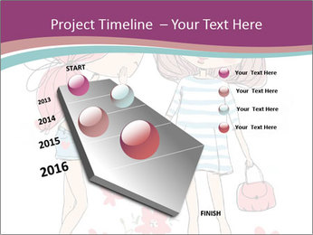Cute girls PowerPoint Templates - Slide 26