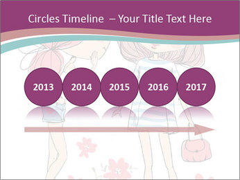 Cute girls PowerPoint Templates - Slide 29