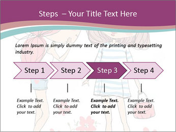 Cute girls PowerPoint Templates - Slide 4