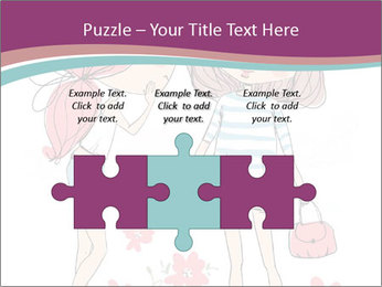 Cute girls PowerPoint Templates - Slide 42