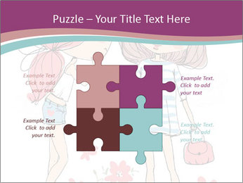Cute girls PowerPoint Templates - Slide 43