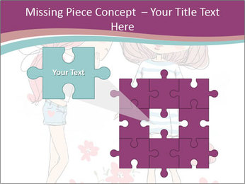 Cute girls PowerPoint Templates - Slide 45