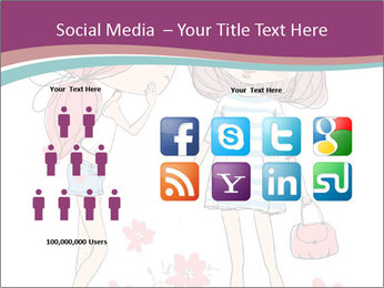 Cute girls PowerPoint Templates - Slide 5