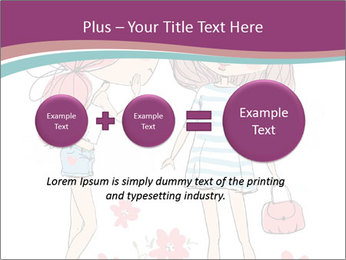 Cute girls PowerPoint Templates - Slide 75