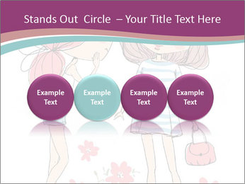 Cute girls PowerPoint Templates - Slide 76