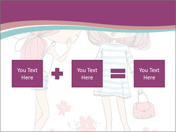 Cute girls PowerPoint Templates - Slide 95