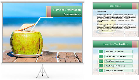Water drink PowerPoint Template