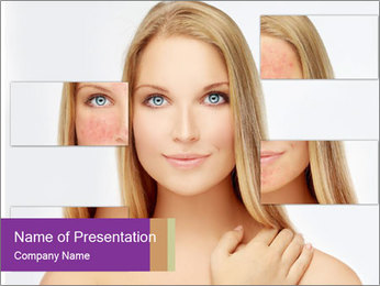 Rosacea PowerPoint Template - Slide 1