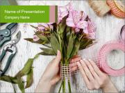 Florist at work PowerPoint Templates